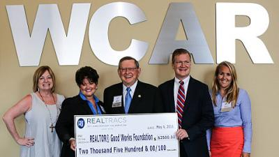 WCAR'S REALTORS® Good Works Foundation Receives Major Grant from REALTRACS SOLUTIONS®